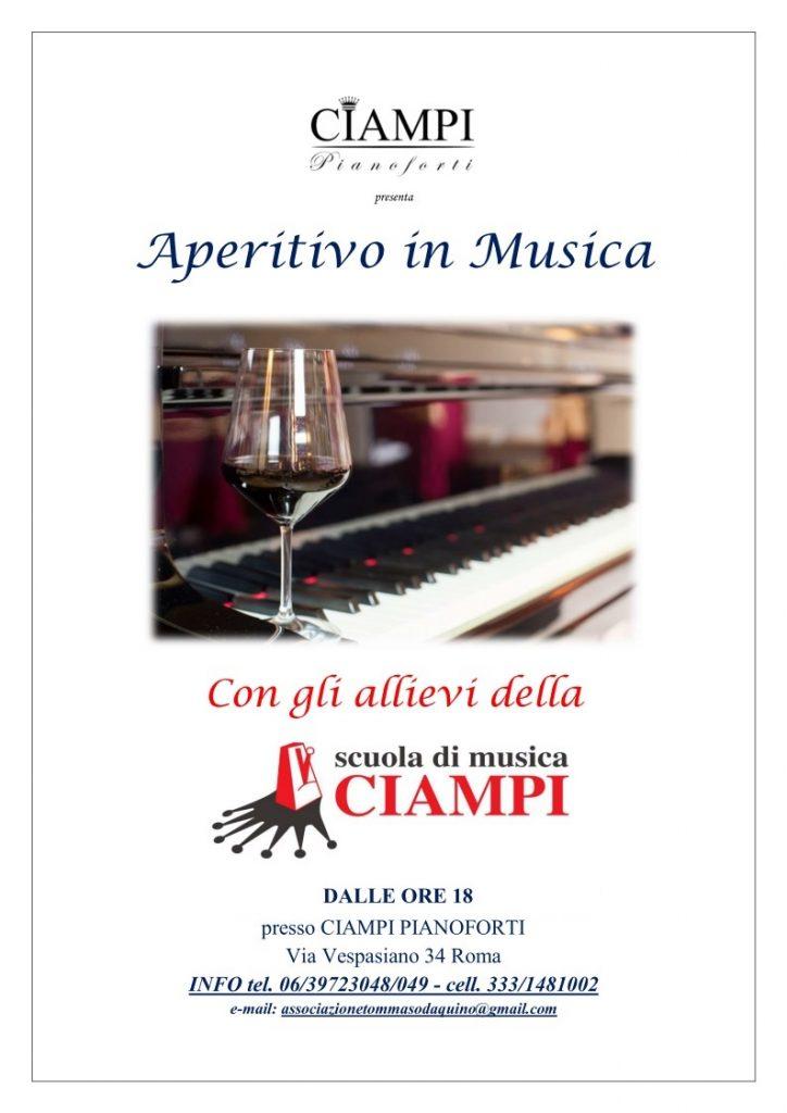 Aperitivo in Musica con la Scuola di Musica Ciampi e Ciampi Pianoforti - un'occasione di incontro nel negozio di pianoforti nel centro di Roma Prati