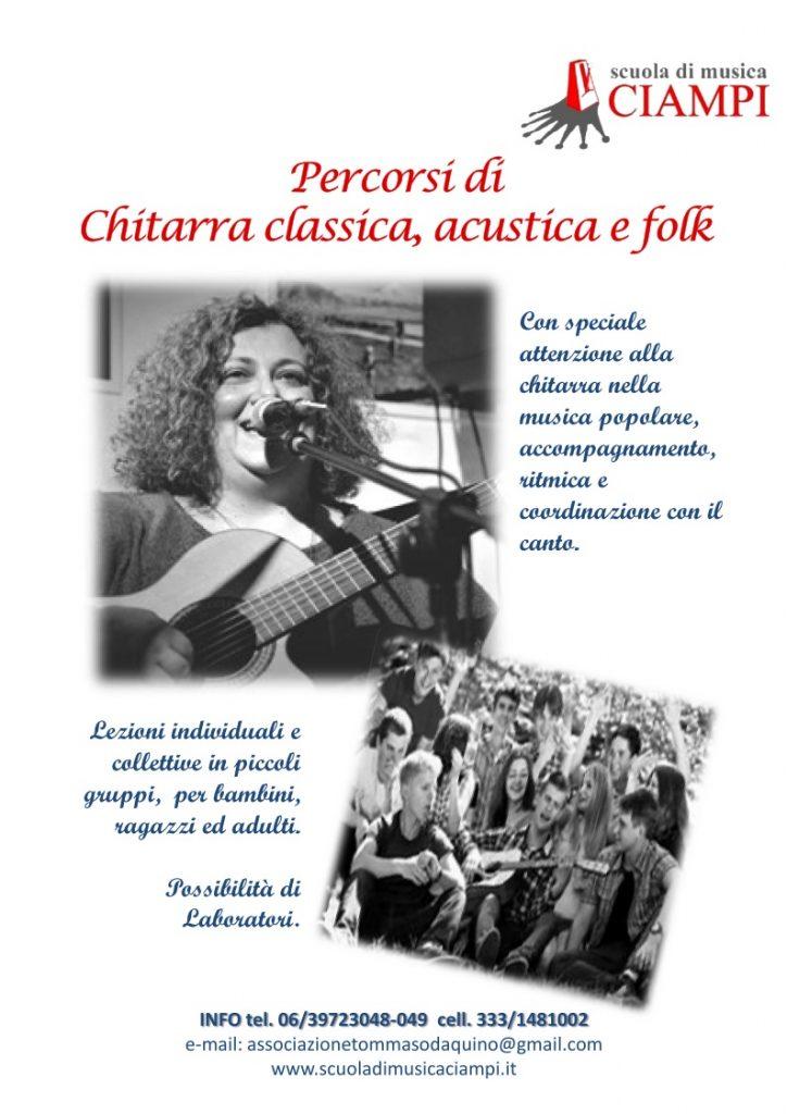 Scuola di Musica Ciampi Roma Stefania Placidi Chitarra Folk